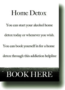 Drugs and drink home detox
